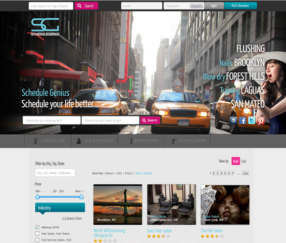 Photo of Home Page Design for Web Service Portal